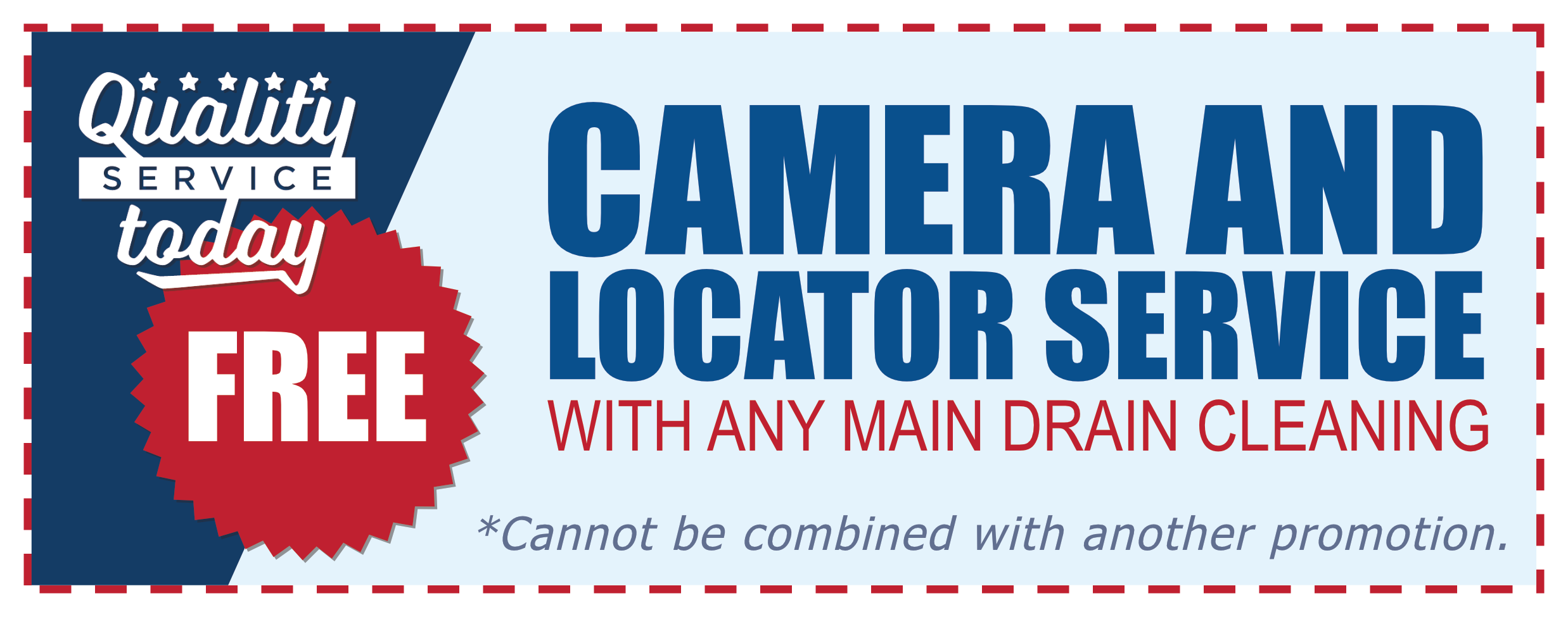 free sewer camera inspection