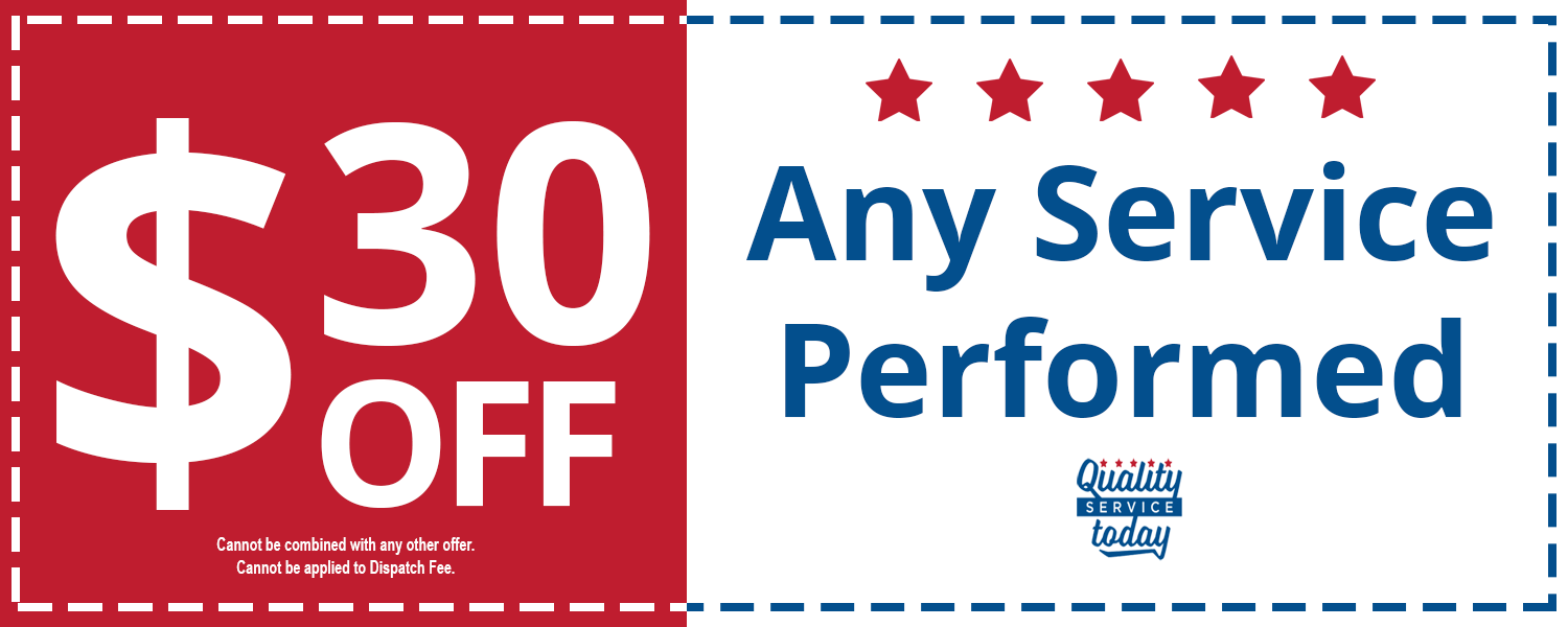 Durham Plumber | Quality Service Today coupon